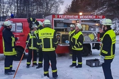 FFW Feuerwehr Meiserich Übung im Winter