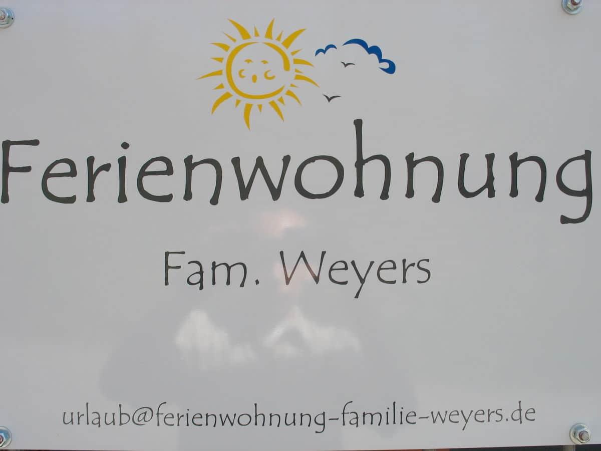 Ferienwohnung Familie Weyers