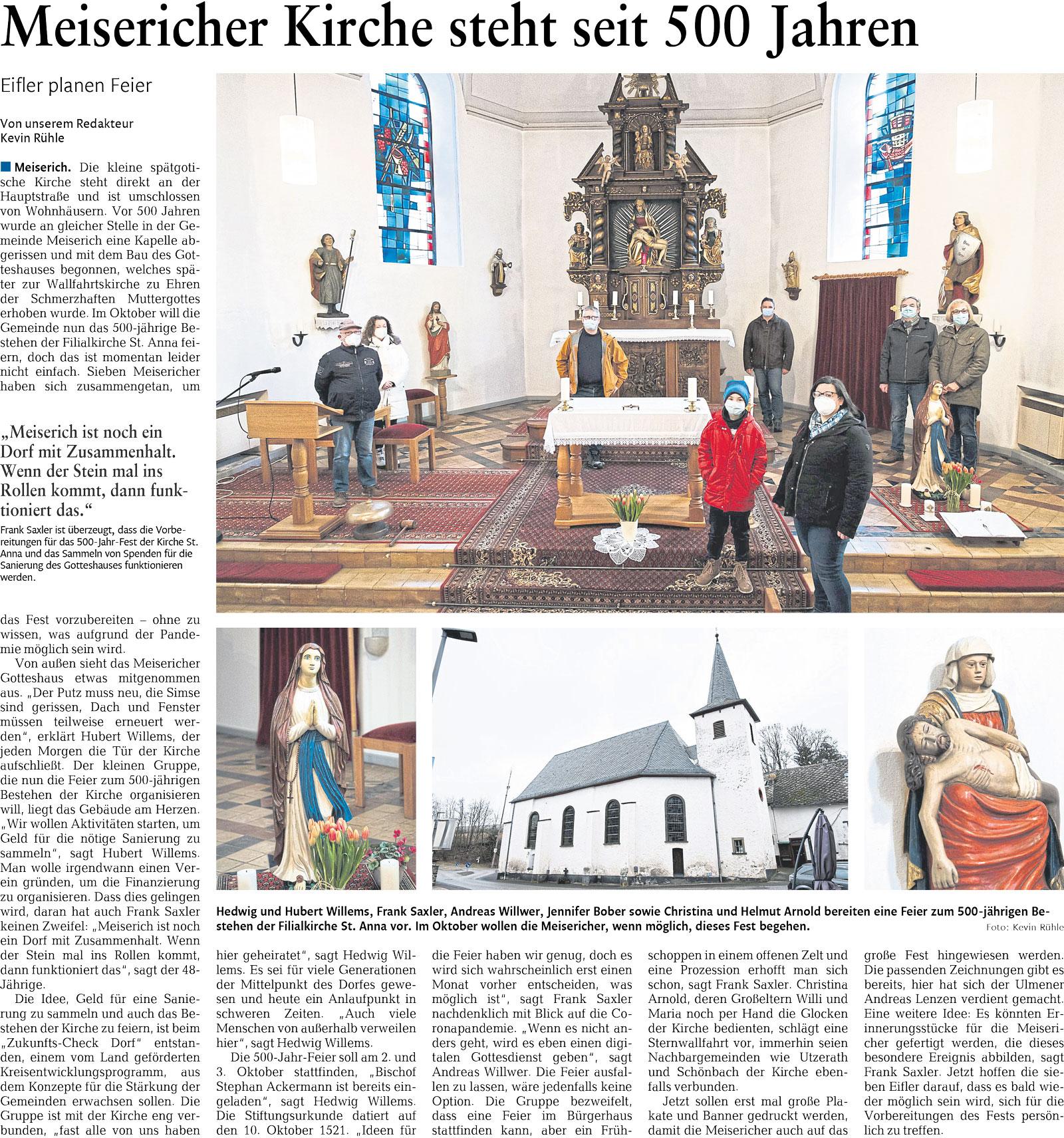 """""""Meisericher Kirche steht seit 500 Jahren"""""""